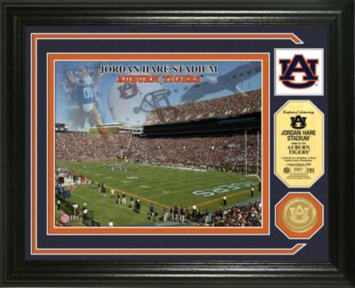 Jordan Hare Stadium Minted Team Medallion Photo Mint Frame