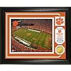 Clemson Memorial Stadium Minted Team Medallion Photo Mint Frame