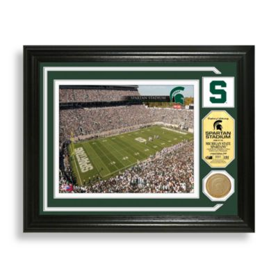Spartan Stadium Minted Team Medallion Photo Mint Frame