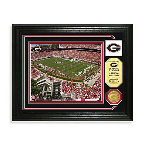 Sanford Stadium Minted Team Medallion Photo Mint Frame