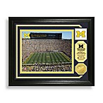 Michigan Stadium Minted Team Medallion Photo Mint Frame