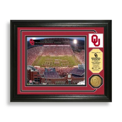 Gaylord Family Oklahoma Memorial Stadium Minted Team Medallion Photo Mint Frame