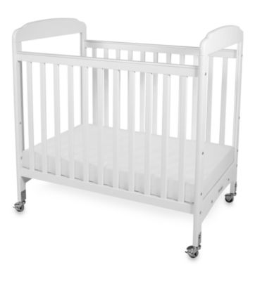 Foundations® Serenity® Compact Fixed-Side Clearview Crib in White