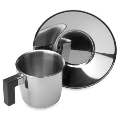 BergHOFF® Cubo Espresso 4-Piece Cup and Saucer Set