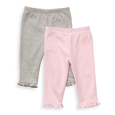 Carter's® Essential 2-Pack Light Pink/Grey Pants