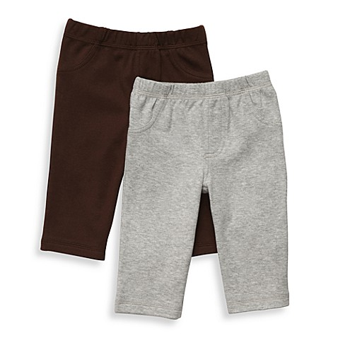 Carter's® Essential 2-Pack Light Brown/Grey Pants