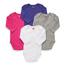 Carter's® Long Sleeve 4-Pack Solid Fall Brights Bodysuits