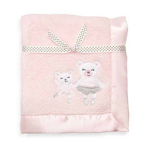 carter's® Pink Bear Satin Trim Blanket