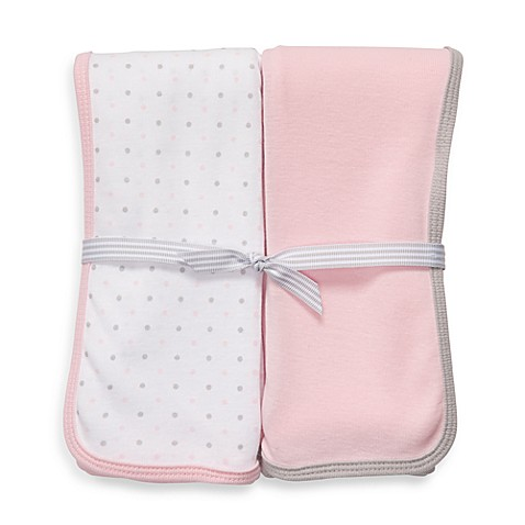 Carter's® 2-Pack Pink/White Dot Swaddle Blankets