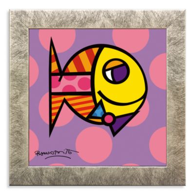 Britto™ Striped Fish Framed Wall Art