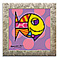 Striped Fish Framed Wall Art by Britto™