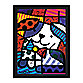 Britto™ Dog Ginger Framed Wall Art