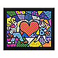 Britto™ Heart Kids Framed Wall Art