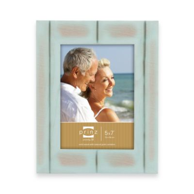 Prinz 4-Inch x 6-Inch Wood Frame in Seaside Aqua
