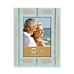 Prinz 5-Inch x 7-Inch Wood Frame in Seaside Aqua