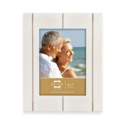 Prinz 5-Inch x 7-Inch Wood Frame in Seaside Whitewash
