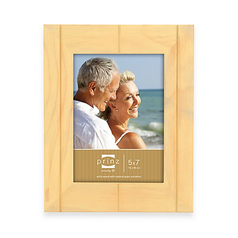 Prinz 5-Inch x 7-Inch Wood Frame in Seaside Sand