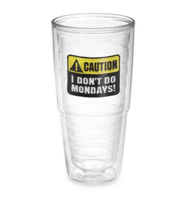 Tervis® Caution: Mondays 24-Ounce Tumbler