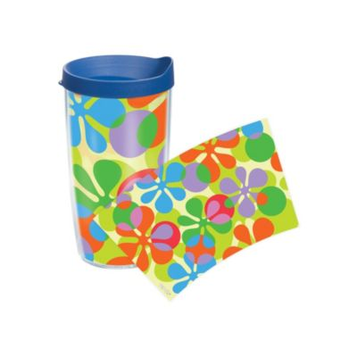 Tervis® Flower Power Wrap 16-Ounce Tumbler with Lid in Navy