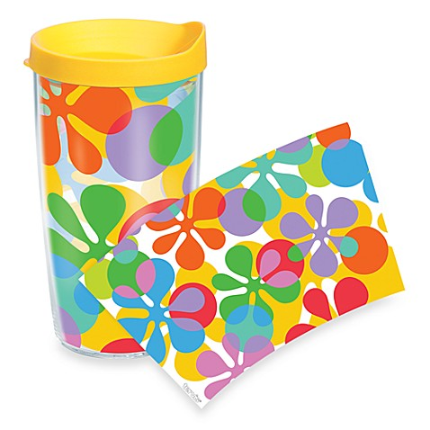 Tervis® Flower Power Wrap 16-Ounce Tumbler with Lid in Yellow