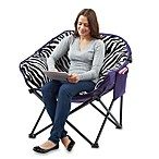 Club Chair with Pocket in Plush Zebra