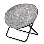 Saucer Chair - Grey Plush