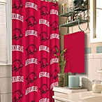University of Arkansas 72-Inch x 72-Inch Fabric Shower Curtain