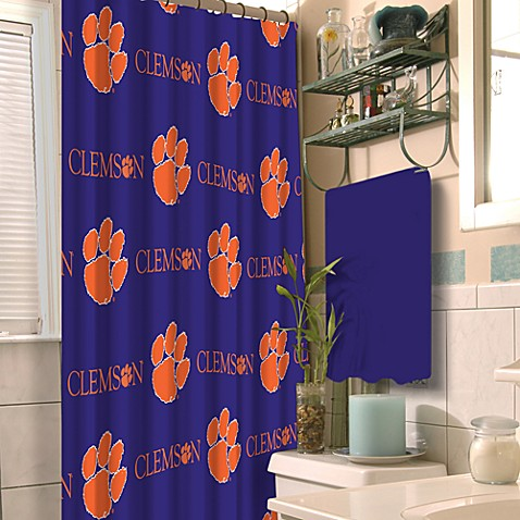 Clemson University 72-Inch x 72-Inch Fabric Shower Curtain