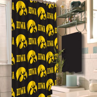 University of Iowa 72-Inch x 72-Inch Fabric Shower Curtain