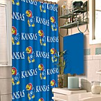 University of Kansas 72-Inch x 72-Inch Fabric Shower Curtain