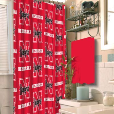 University of Nebraska 72-Inch x 72-Inch Fabric Shower Curtain