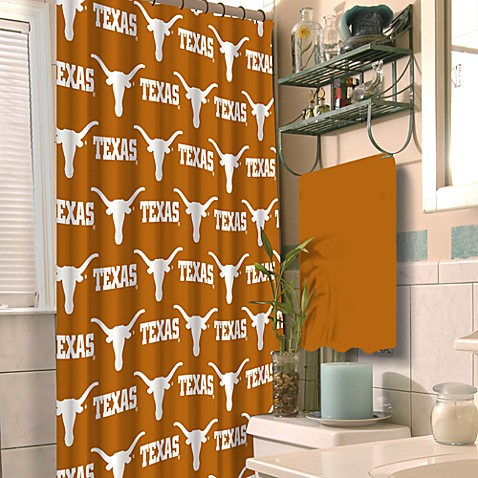 University of Texas 72-Inch x 72-Inch Fabric Shower Curtain