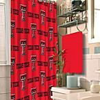 Texas Tech 72-Inch x 72-Inch Fabric Shower Curtain