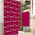 Virginia Tech 72-Inch x 72-Inch Fabric Shower Curtain