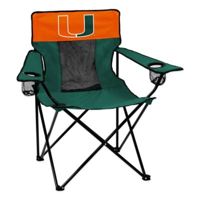University of Miami Collegiate Elite Folding Chair