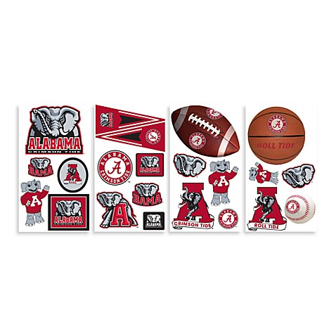 Buy university of alabama peel stick wall decals from for Alabama football mural