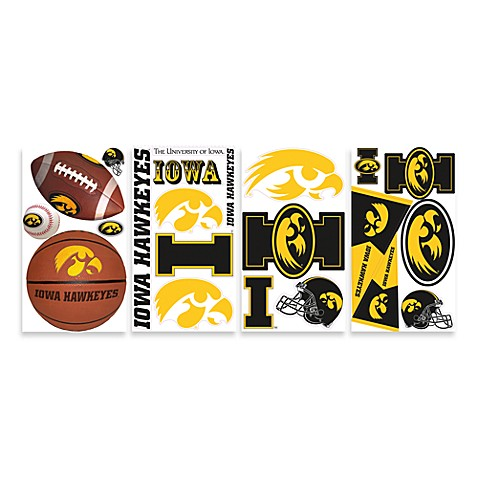 University of Iowa Peel & Stick Wall Decals
