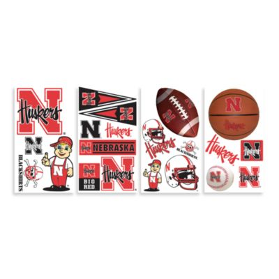University of Nebraska Peel & Stick Wall Decals