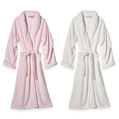 Elizabeth Arden Large/Extra Large Ultra Plush Bathrobe in Ivory