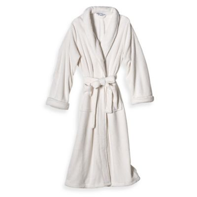 Elizabeth Arden Size Small/Medium Ultra Plush Bathrobe in Ivory