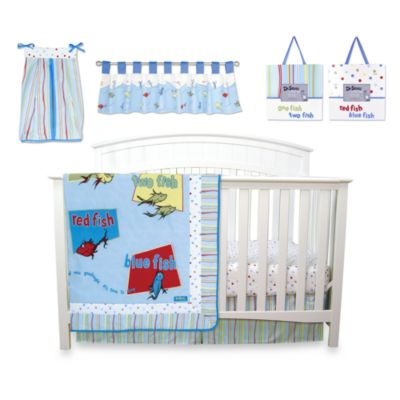 Dr. Seuss' One Fish Two Fish 7-Piece Crib Bedding Set