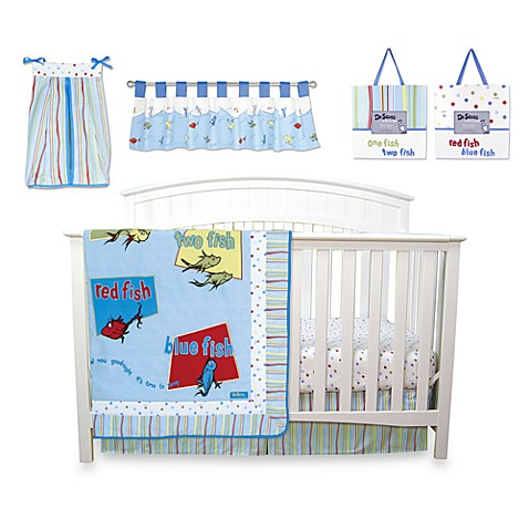 Trend Lab® Dr. Seuss™ One Fish Two Fish 7-Piece Crib Bedding Set