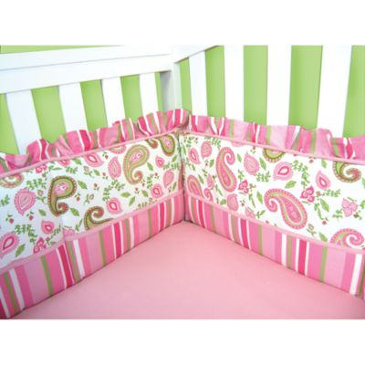 Green Crib Bumper