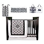 Versailles Black and White 7-Piece Crib Bedding Set
