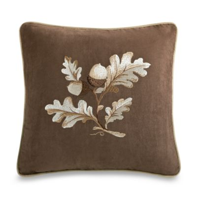 River Run 18-Inch Embroidered Square Throw Pillow