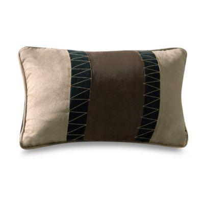River Run 12-Inch Pieced Oblong Throw Pillow
