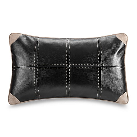 River Run 12-Inch Faux-Leather Oblong Toss Pillow