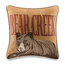Bear Creek Brown Bear Square Throw Pillow