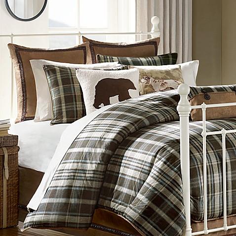 hadley plaid comforter collection bed bath beyond. Black Bedroom Furniture Sets. Home Design Ideas