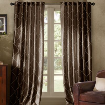 Bombay™ Garrison 84-Inch Rod Pocket/Back Tab Window Curtain Panel in Chocolate